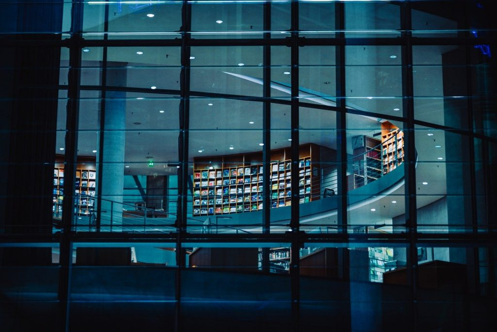 architecture, building, library